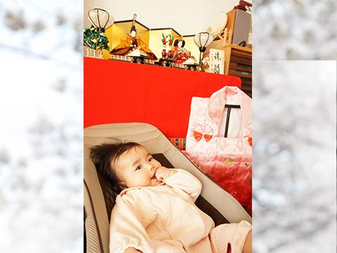 葵帆ちゃん 『初節句!私のお人形様♪』